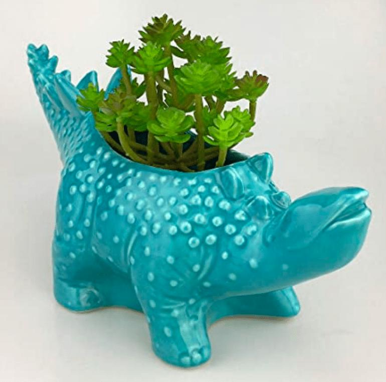 Cute Cartoon Dinosaur Ceramic Succulent Planter