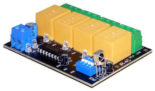Infrared  Remote Control Relay Board 4 channel - iknowvations.in