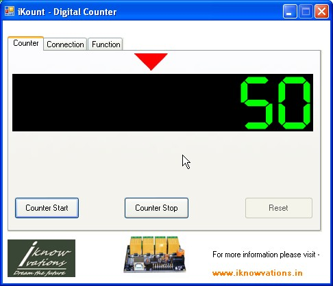 iKount digital counter using U452 c iknowvations.in