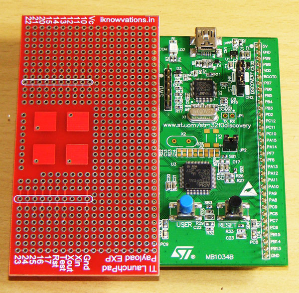STM32F0 DISCOVERY with iknowvations Experiment board-1
