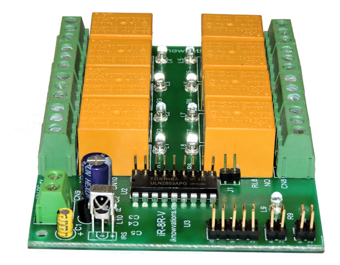 8 ch ir infrared remote control relay board - iR-8R-V - 2 iknowvations