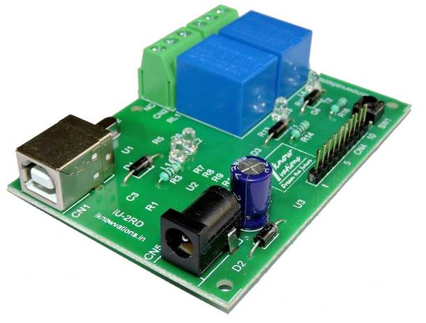 2-channel-usb-relay-board-iU 2RD-8 from iknowvations