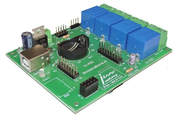 iU-45D USB Relay & DAQ board with digital & analog I/Os from iknowvations-1