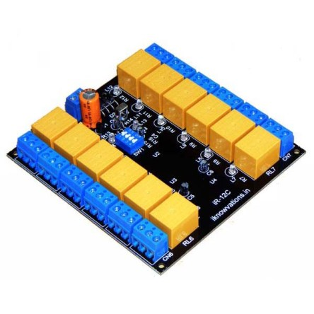 12 channel IR remote control relay board – iR-12C