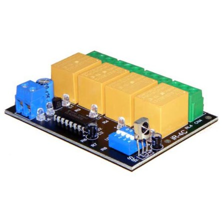 4 channel IR remote control Relay Board – iR-4C