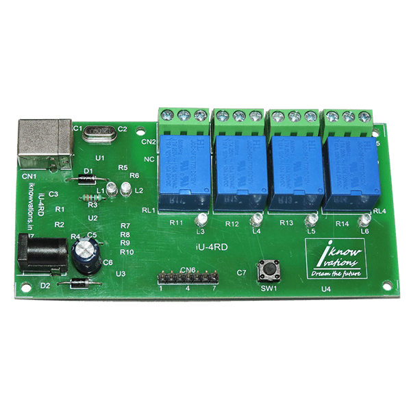 iU-4RD 4 channel usb relay & daq board from iknowvations