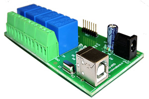 iU-4RD 4 channel usb relay board