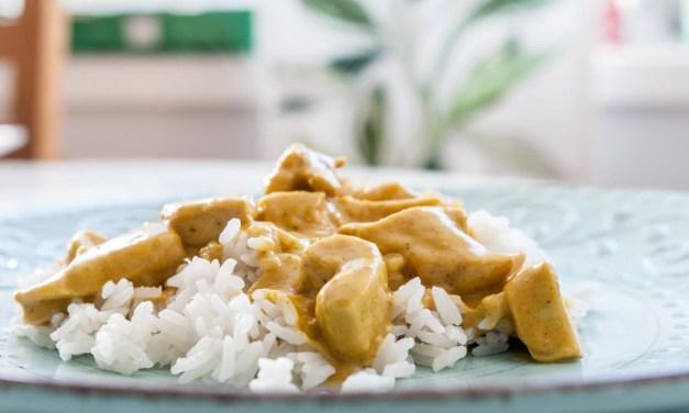 Enkel kycklingcurry med ris