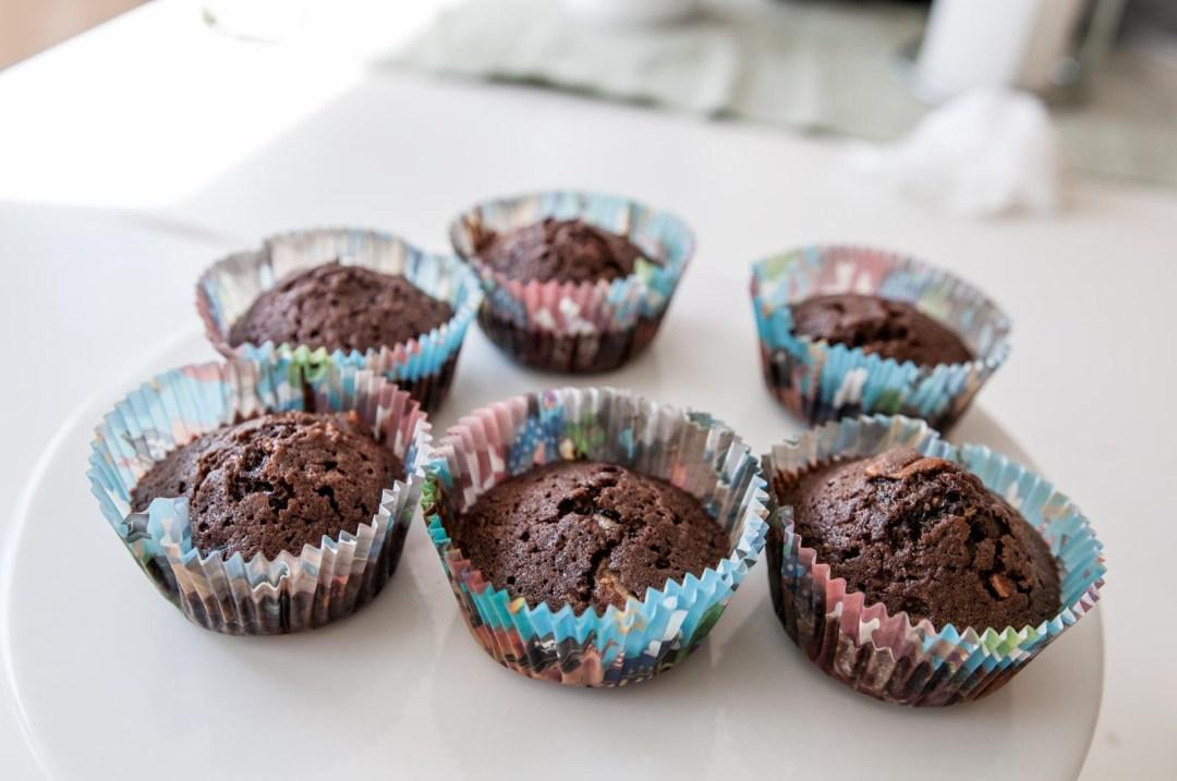 chokladmuffins med maräng