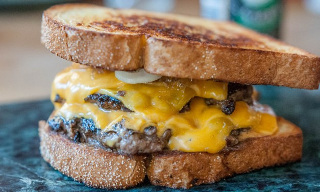 Hot melt double cheeseburger