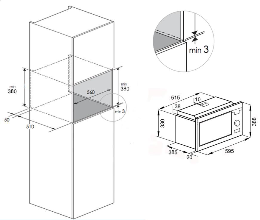 Microwave Dimensions Built-in