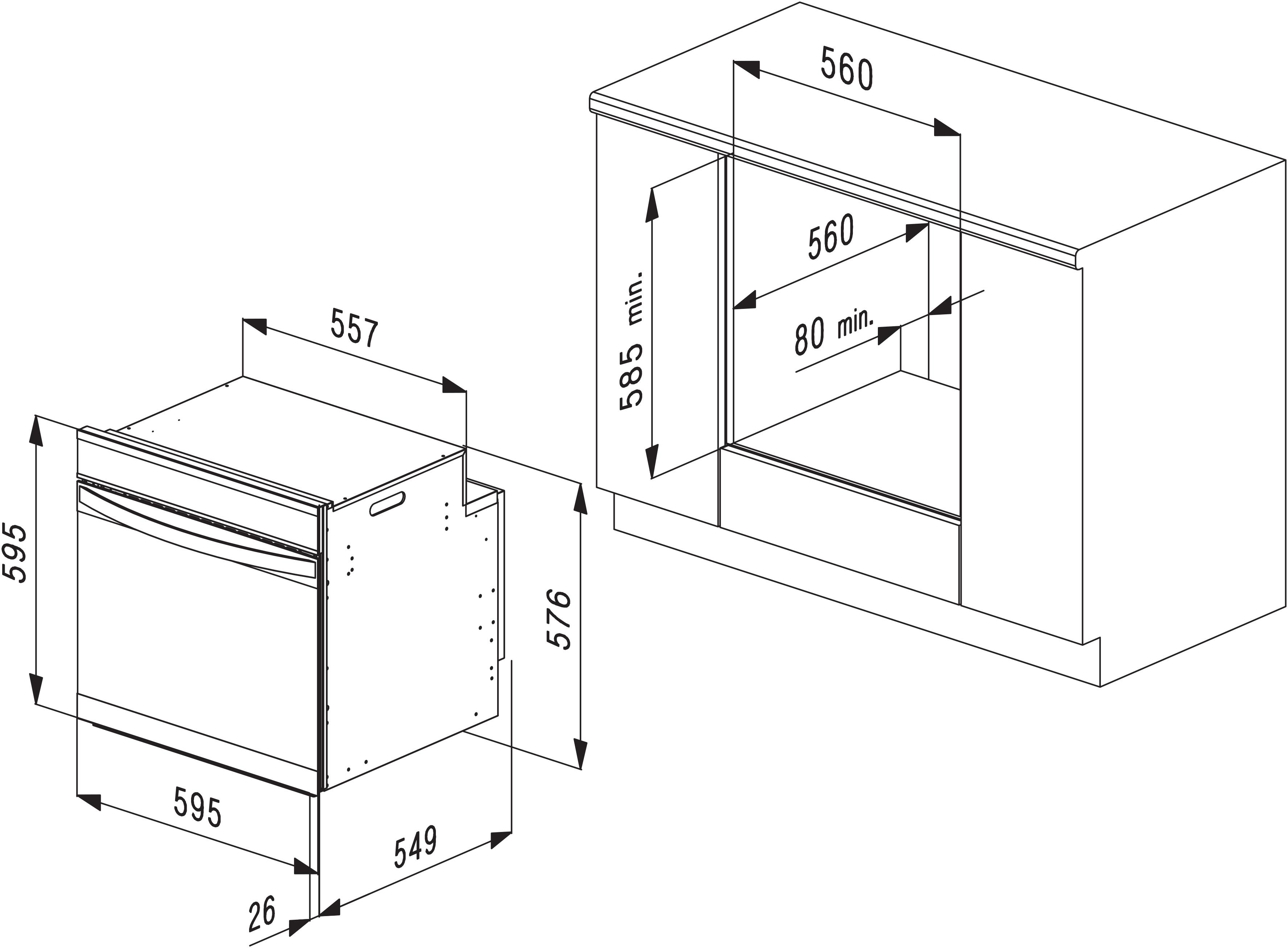 MULTIFUNCTION OVEN 60CM – MODEL OMF6022