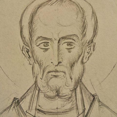 Saint Nicolas de Myre, détail.