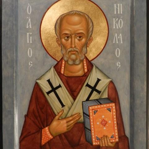 Saint Nicolas de Myre, 16 cm x 20 cm