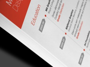 Modern design detail of the Neue Swiss Resume Template.