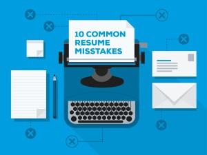 10 common resume mistakes illustration