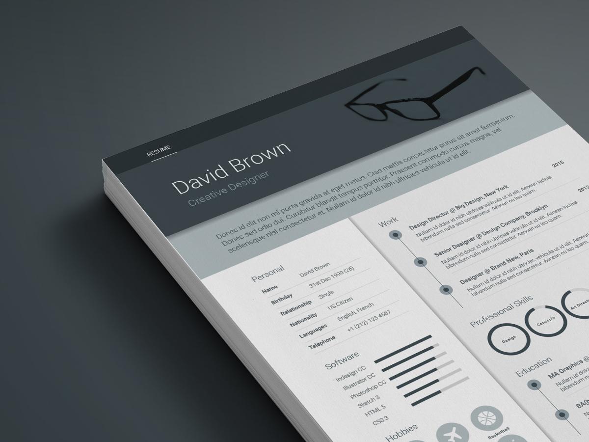 Free material design resume template - www.ikono.me