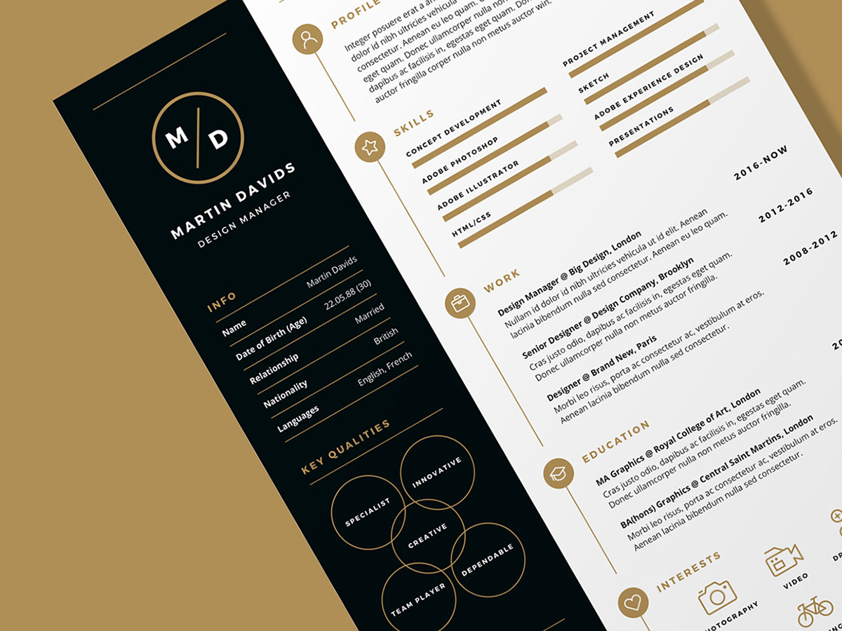 CV_Resume_Main Template Cover Letter Job Free Black Elegant Resume Cv Design Ukzwbd on