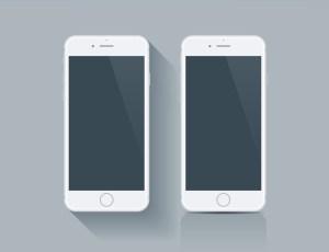 20 Flat illustrations of the latest Smart Phones