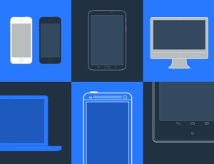 20 Minimal vector devices created in Adobe Illustrator