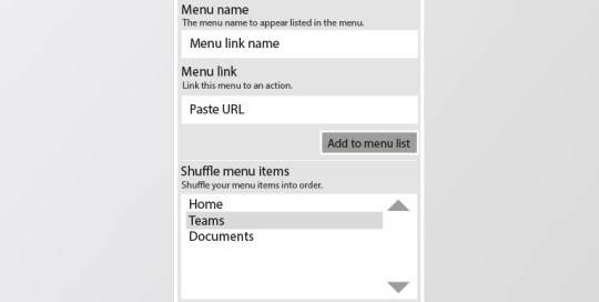 Very simple menu maker