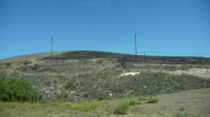 Une coline brûlée