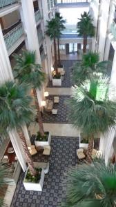 le lobby vu de haut