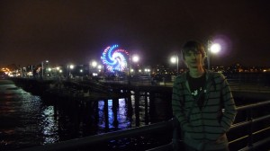Santa Monica Pier de nuit
