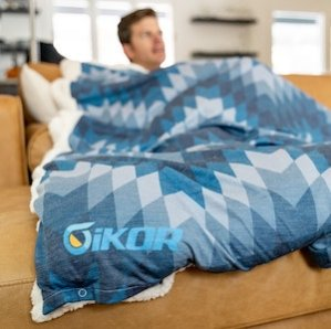 Mobile image of iKOR and Holden and Hay weighted blanket
