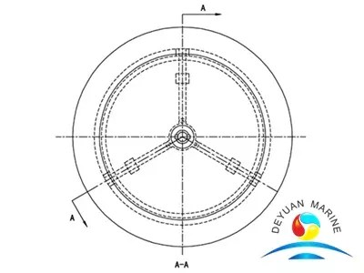 Model C Marine Circular Flat Type Single-cover Watertight