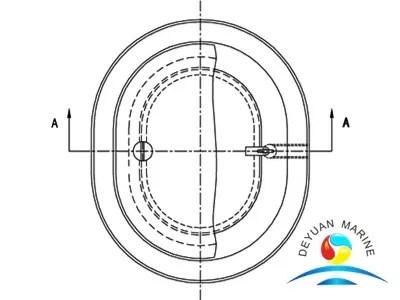 Model B Long Circular Flat Type Double-covers Watertight