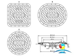 Model D Quick Acting Buried Weathertight Hatch Cover