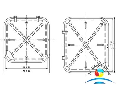 Aluminum Watertight Hatch Cover from China manufacturer