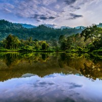 A Quiet Morning At The Lake, Situ Gunung In HDR
