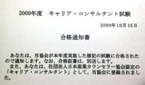 キャリア コンサルタント 試験 2009