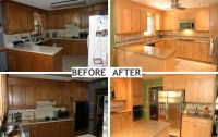 Before & After Kitchen Cabinet Refacing 2016