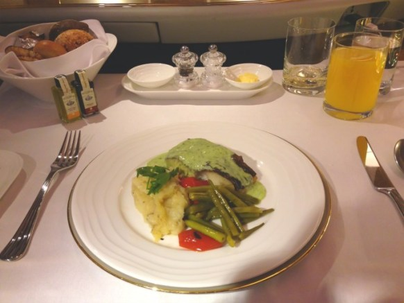 Emirates First Class - fish