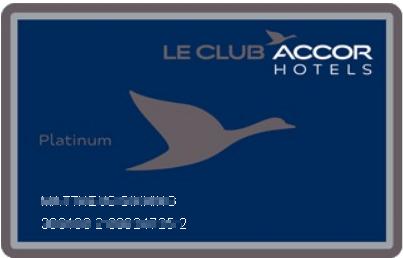 Le Club Platinum kaart zonder vervaldatum