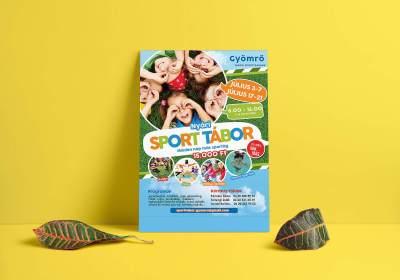 Sporttábor plakát és szórólap