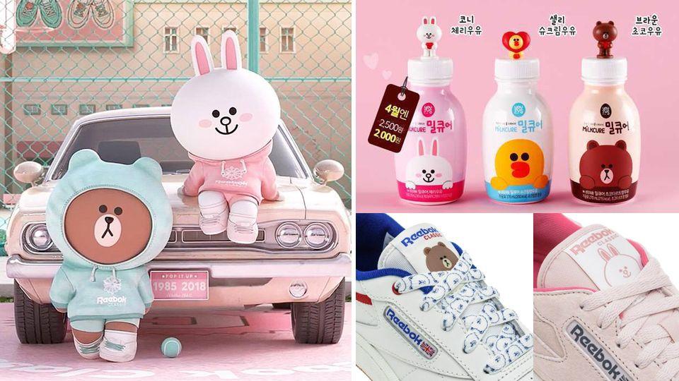 韓國Reebok x 熊大兔兔聯名!超萌造型近期搶翻天產品3推薦 - BEAUTY美人圈