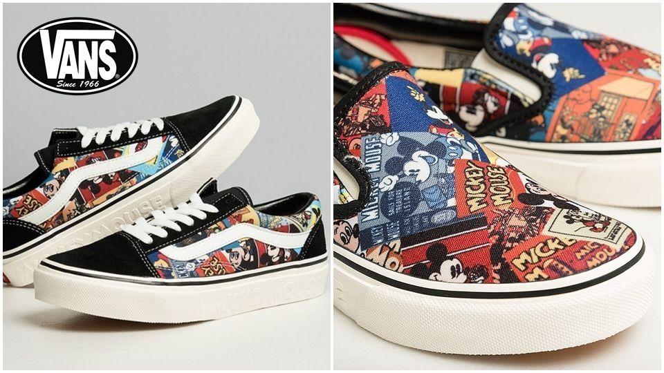 全新Vans x 米奇聯名鞋款即將開賣,滿滿的米奇漫畫圖騰,大人小孩可以一起穿! - BEAUTY美人圈