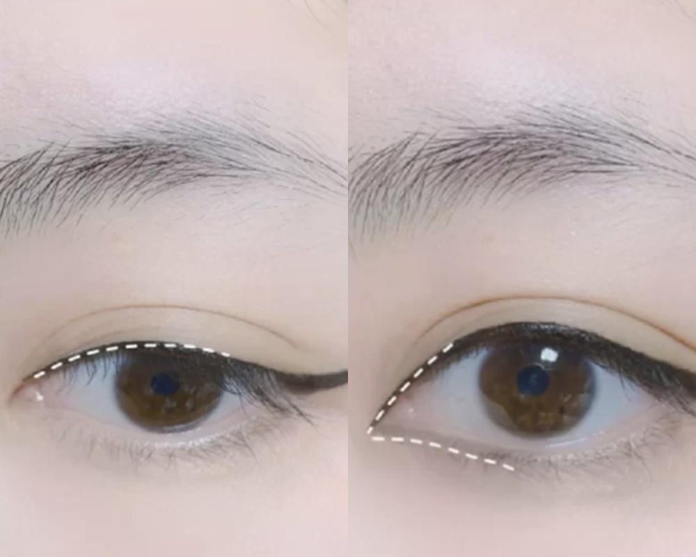 單眼皮,內雙女孩都有解!腫泡眼「眼線消腫」技巧教學,「眼線角度」上揚點是關鍵! 噪咖 EBCbuzz