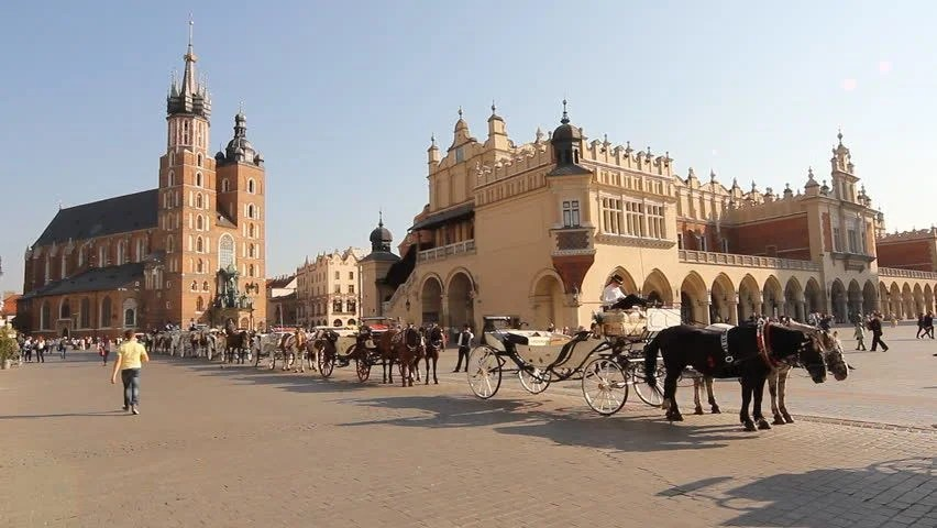 Cloth Market And Town Hall Tower At Main Market Square, Krakow, Poland Stock Footage Video 1882441 - Shutterstock