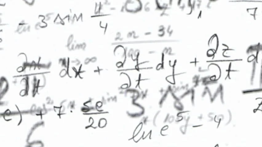 Maths Equation Loop With Alpha Channel Stock Footage Video
