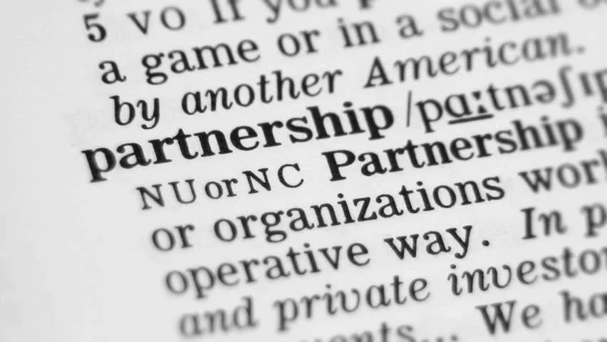 Focus On Partnership In The Dictionary Stock Footage Video
