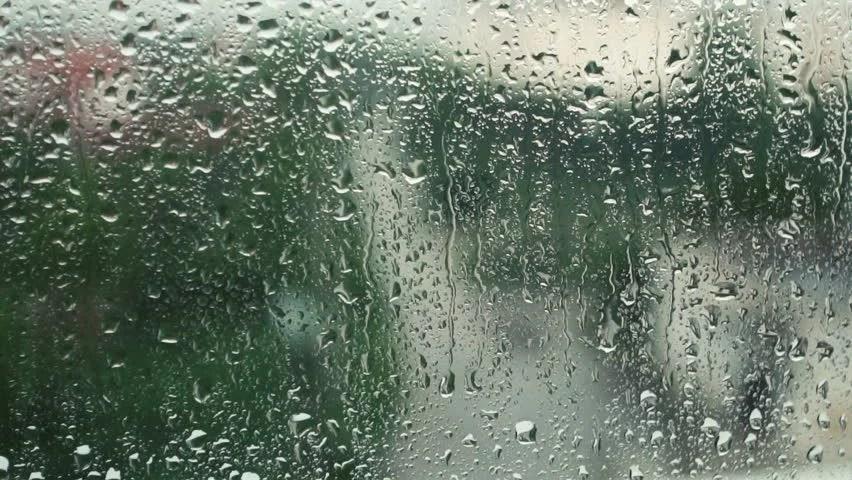 Rain Fall Hd Wallpaper Download Rain Falling On Glass During Rain Storm Stock Footage