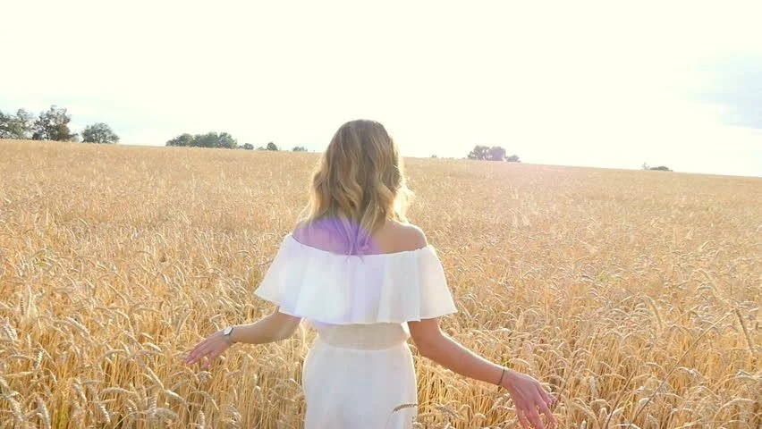 white girl in a wheat field image #6,000,000