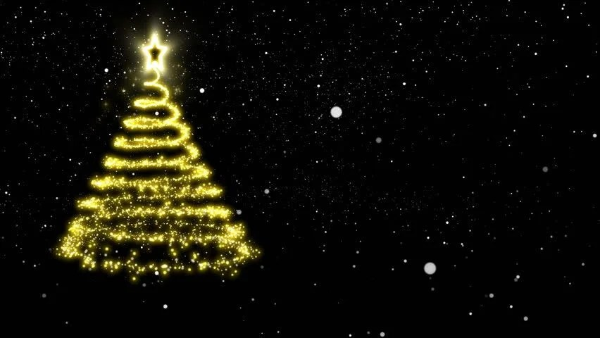 The Yellow Wallpaper Falling Action Gold Lights Christmas Tree Stock Footage Video 2852917