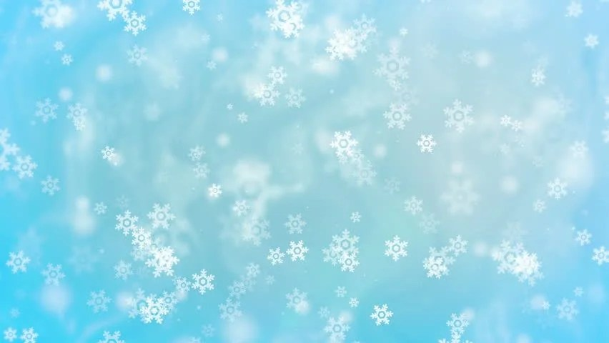 Christmas Snowflakes Loop White Version Holiday