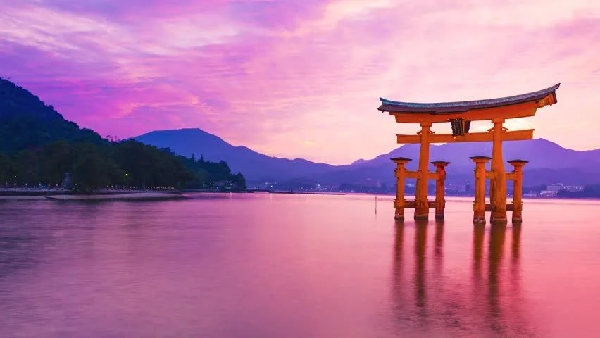 Animation Hd Wallpapers 1080p Sunset Time Lapse Of The Famous Orange Shinto Gate Torii